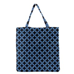 Circles3 Black Marble & Blue Colored Pencil Grocery Tote Bag by trendistuff