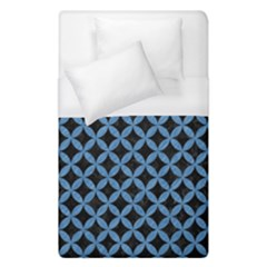 Circles3 Black Marble & Blue Colored Pencil Duvet Cover (single Size) by trendistuff