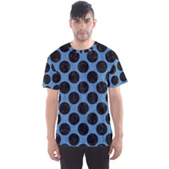 CIRCLES2 BLACK MARBLE & BLUE COLORED PENCIL (R) Men s Sports Mesh Tee