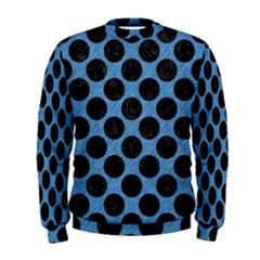 CIRCLES2 BLACK MARBLE & BLUE COLORED PENCIL (R) Men s Sweatshirt