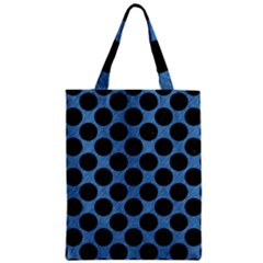 CIRCLES2 BLACK MARBLE & BLUE COLORED PENCIL (R) Zipper Classic Tote Bag
