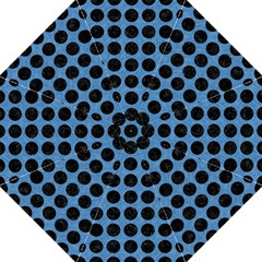 Circles1 Black Marble & Blue Colored Pencil (r) Folding Umbrella by trendistuff
