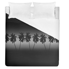 Tropical Sunset Duvet Cover (queen Size) by Valentinaart