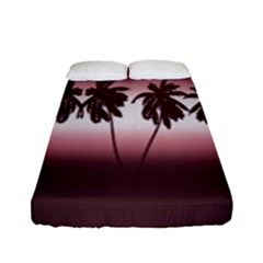 Tropical Sunset Fitted Sheet (full/ Double Size) by Valentinaart