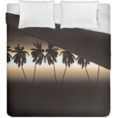 Tropical Sunset Duvet Cover Double Side (king Size) by Valentinaart
