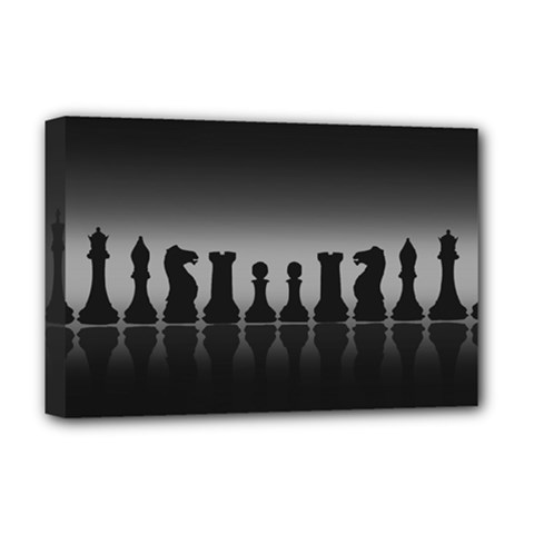 Chess Pieces Deluxe Canvas 18  X 12   by Valentinaart