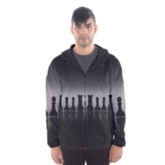 Chess Pieces Hooded Wind Breaker (men)
