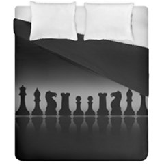 Chess Pieces Duvet Cover Double Side (california King Size) by Valentinaart