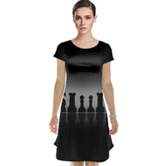Chess Pieces Cap Sleeve Nightdress