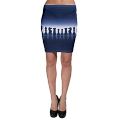 Chess Pieces Bodycon Skirt
