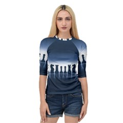Chess Pieces Quarter Sleeve Tee by Valentinaart