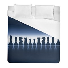 Chess Pieces Duvet Cover (full/ Double Size) by Valentinaart