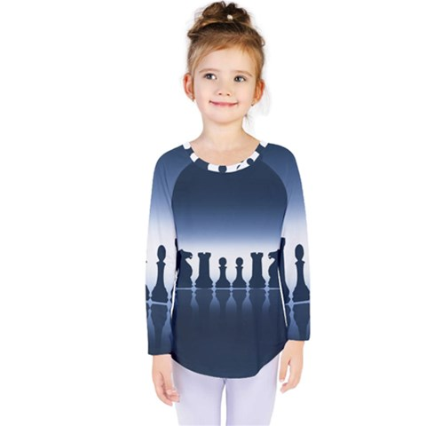 Chess Pieces Kids  Long Sleeve Tee by Valentinaart