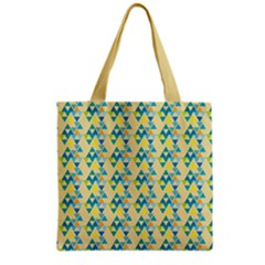 Colorful Triangle Pattern Grocery Tote Bag by berwies