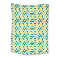 Colorful Triangle Pattern Medium Tapestry by berwies