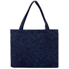 Woven2 Black Marble & Blue Grunge (r) Mini Tote Bag by trendistuff