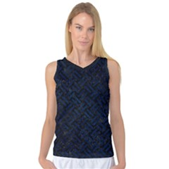 Woven2 Black Marble & Blue Grunge Women s Basketball Tank Top by trendistuff