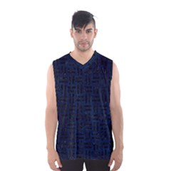 Woven1 Black Marble & Blue Grunge (r) Men s Basketball Tank Top by trendistuff