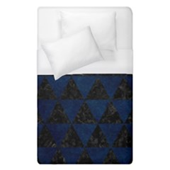 Triangle3 Black Marble & Blue Grunge Duvet Cover (single Size) by trendistuff