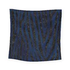 Skin4 Black Marble & Blue Grunge Square Tapestry (small) by trendistuff