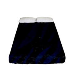 Skin3 Black Marble & Blue Grunge Fitted Sheet (full/ Double Size) by trendistuff