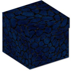 Skin1 Black Marble & Blue Grunge Storage Stool 12  by trendistuff