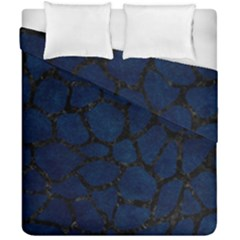 Skin1 Black Marble & Blue Grunge Duvet Cover Double Side (california King Size) by trendistuff