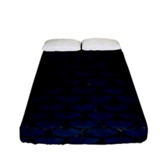 Scales3 Black Marble & Blue Grunge (r) Fitted Sheet (full/ Double Size) by trendistuff