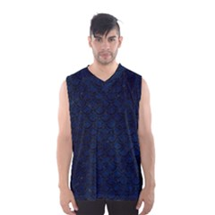 Scales2 Black Marble & Blue Grunge (r) Men s Basketball Tank Top by trendistuff