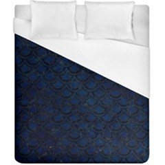 Scales2 Black Marble & Blue Grunge (r) Duvet Cover (california King Size) by trendistuff