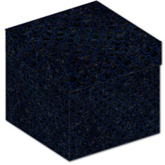 Scales2 Black Marble & Blue Grunge Storage Stool 12  by trendistuff