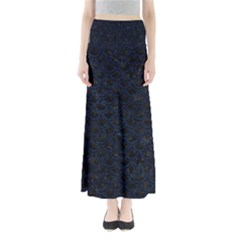 Scales2 Black Marble & Blue Grunge Full Length Maxi Skirt by trendistuff