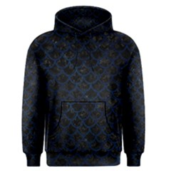 Scales1 Black Marble & Blue Grunge Men s Pullover Hoodie by trendistuff