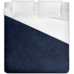 Hexagon1 Black Marble & Blue Grunge (r) Duvet Cover (king Size) by trendistuff