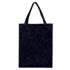 Hexagon1 Black Marble & Blue Grunge Classic Tote Bag by trendistuff