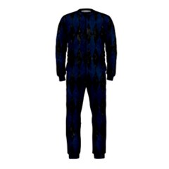 Diamond1 Black Marble & Blue Grunge Onepiece Jumpsuit (kids) by trendistuff