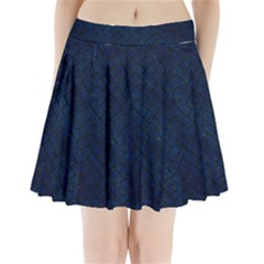 Brick2 Black Marble & Blue Grunge (r) Pleated Mini Skirt by trendistuff
