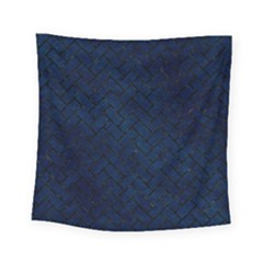 Brick2 Black Marble & Blue Grunge (r) Square Tapestry (small) by trendistuff