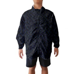 Brick2 Black Marble & Blue Grunge Wind Breaker (kids) by trendistuff