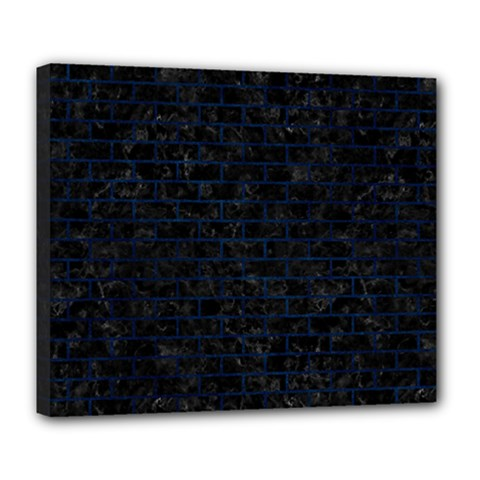 Brick1 Black Marble & Blue Grunge Deluxe Canvas 24  X 20  (stretched) by trendistuff