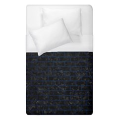 Brick1 Black Marble & Blue Grunge Duvet Cover (single Size) by trendistuff