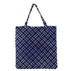 Woven2 Black Marble & Blue Watercolor Grocery Tote Bag by trendistuff