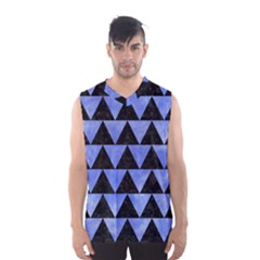 Triangle2 Black Marble & Blue Watercolor Men s Basketball Tank Top