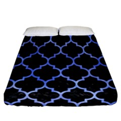 Tile1 Black Marble & Blue Watercolor Fitted Sheet (california King Size) by trendistuff