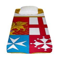 Coat Of Arms Of The Italian Navy Fitted Sheet (single Size) by abbeyz71