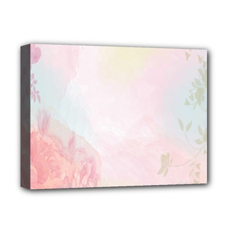 Watercolor Floral Deluxe Canvas 16  X 12   by Nexatart