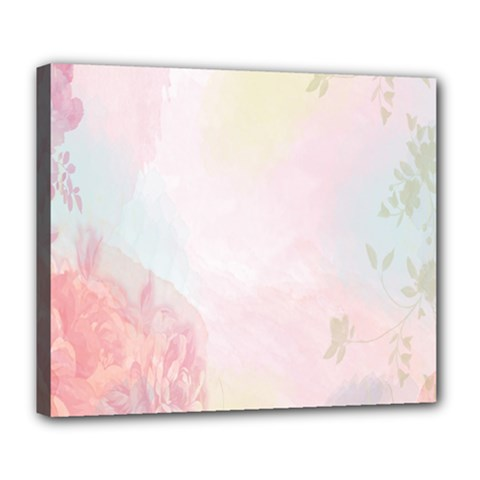Watercolor Floral Deluxe Canvas 24  X 20   by Nexatart