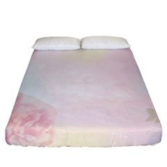 Watercolor Floral Fitted Sheet (king Size)