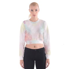 Watercolor Floral Cropped Sweatshirt