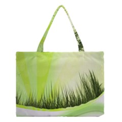 Green Background Wallpaper Texture Medium Tote Bag by Nexatart